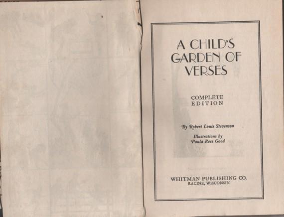 1930s Books A Child 39 S Garden Of Verses