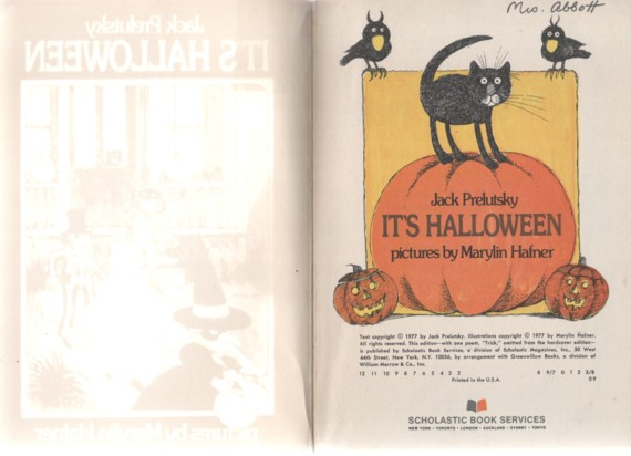 its halloween by jack prelutsky pictures by marilyn hafner